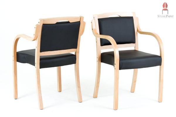 Stühle modern mit armlehne  Polsterstühle mit Armlehnen Sup.erior Kunstleder | STUHLPAPST